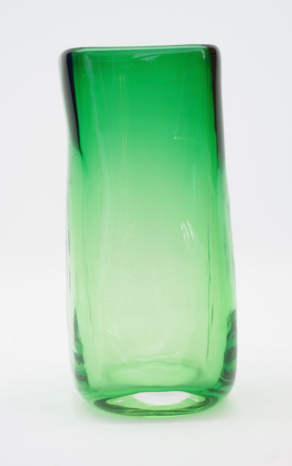 Medium Emerald Green Square Vase