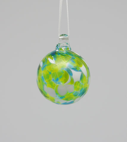 Mini Turquoise, Lime green and White Ornament 2