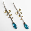 Caspian Fern Leaf Earrings w/ Teal Kyanite