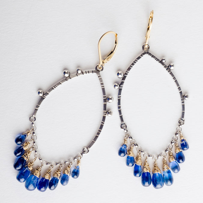 Allura Kyanite Chandelier Earrings