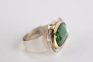 Milan Green Tourmaline & Diamond Ring, US 7