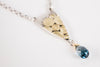 Caicos London Blue Topaz Necklace in Gold & Silver