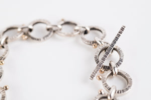 Orion Large Link Bracelet in Silver & 14k Gold