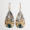 Hilo London Blue Topaz & Sapphire Earrings in Gold and Silver
