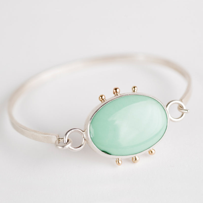 Chiron Veriscite Tension Cuff in Silver & 14k Gold