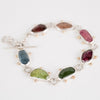 Europa Multi Colored Tourmaline Bracelet in Silver & 14k Gold