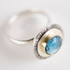 Toulouse London Blue Topaz Hollow Form Ring - size 7