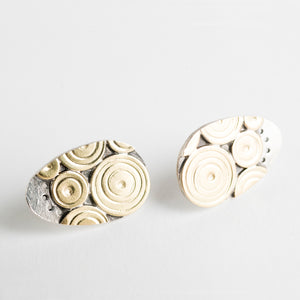 Maio Atoll Studs in 18k Gold and Silver