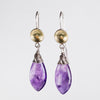 Elsa Amethyst Teardrop Dangle Earrings