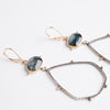 Astraea Moss Aquamarine Earrings in 18k & 14k Gold, Silver