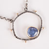Saturn Tanzanite Pendant in Gold & Silver