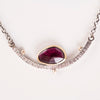 Mimas Rose Cut Garnet in Gold w/ Silver Cradle