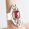 Sargasso Pink Tourmaline Ring in 18k Gold & Silver - Size 7 3/4