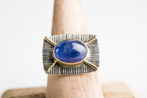 Honshu Tanzanite Ring in 18k Gold & Silver, One-of-a-Kind