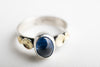 Kenai Kyanite Ring in Silver & 18k Gold