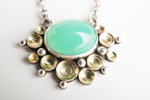 Tiamat Chrysoprase Seascape Necklace