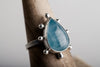 Hailey Aquamarine Ring in Silver - Size 6 1/2