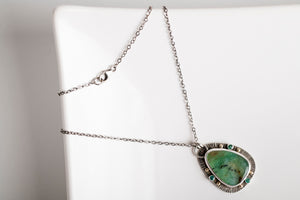 Nassau Chrysoprase and Emerald Pendant