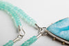 Borealis Larimar Necklace on Chalcedony Strand in Silver & Gold - One of a Kind