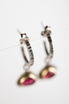 Tangier Pink Tourmaline Dangles on Hoops