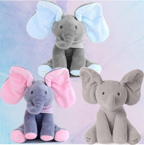 Baby Peek A Boo Animated Singing Elephant