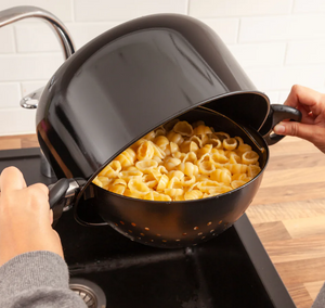 StrainPot - Cooking Pot with Built-In Strainer