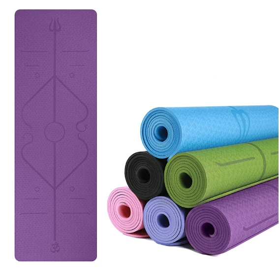 YogieRight - Yoga Mat With Correct Alignment System