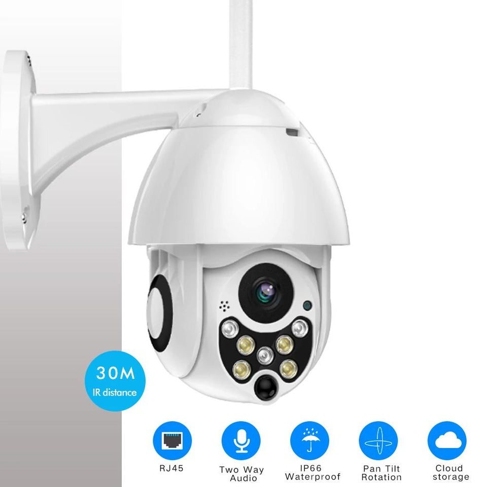Outdoor WiFi Security Camera With 4X Zoom