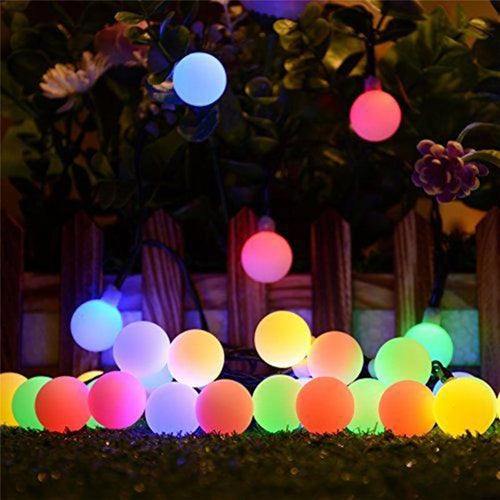 Outdoor Solar String Garden Balloon Lights
