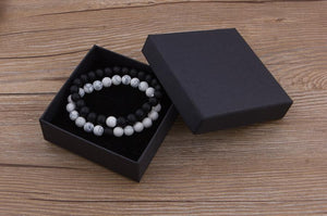 Moon and Eclipse Distance Bracelets For Couples Friends Family Loved Ones