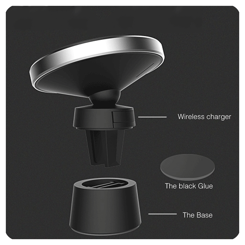 Magnetic Wireless Charger Car Qi  Mount