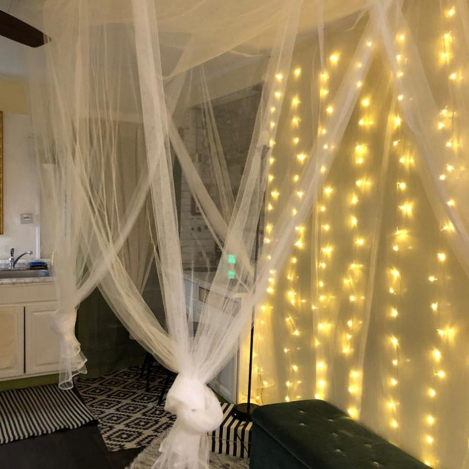 LED Icicle String Curtain Lights