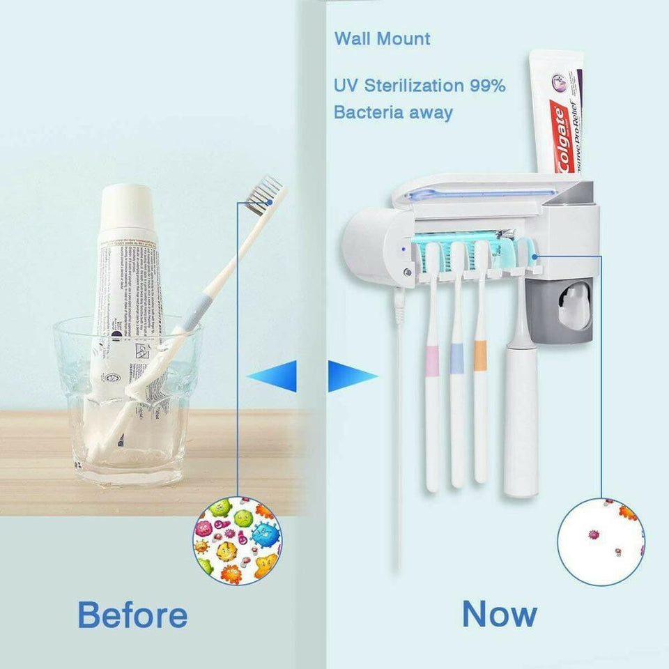 Antibacterial UV Toothbrush Holder And Sterilizer