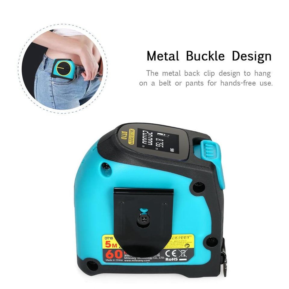2-In-1 Laser Tape Measure Tool