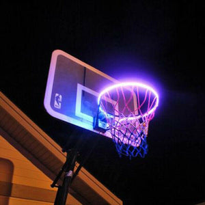 Hoop activated Solar Basketball Lights