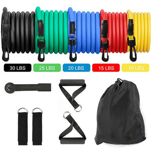 11pcs Pull Rope Fitness Resistance Bands