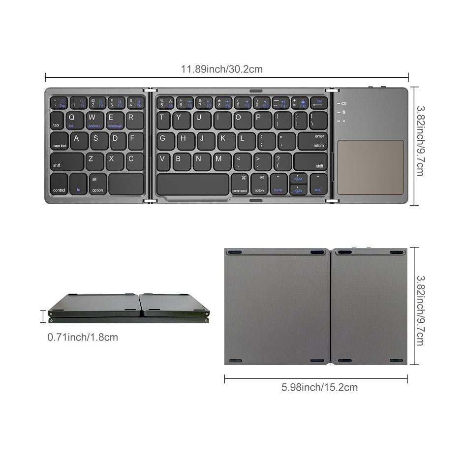 Portable Folding Keyboard Bluetooth