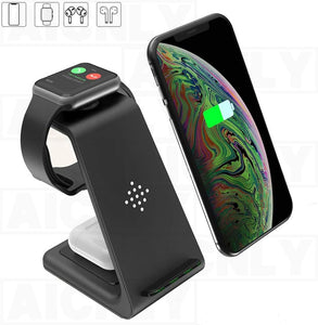 3 In 1 Wireless Charger 10W Fast Charge  For Iphone 11 Pro SE2 Charger Dock For Apple Watch Airpods Pro Wireless Charge Stand