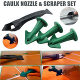 Caulk Nozzle Scraper Set Reusable Sealant Angle Scraper
