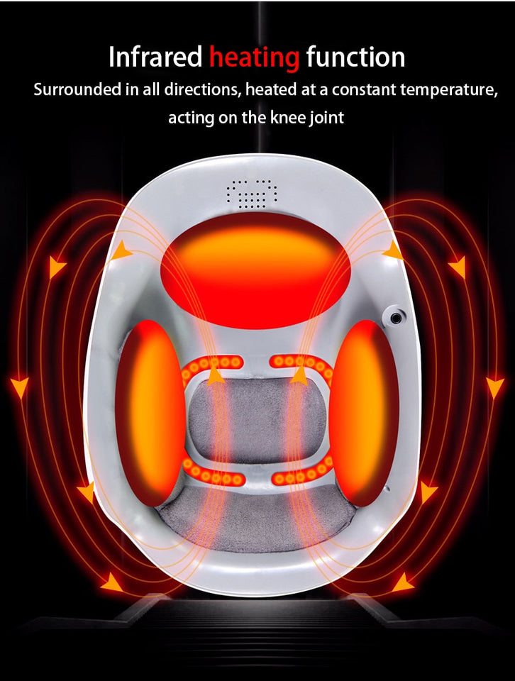 Laser heated air massage knee rehabilitation