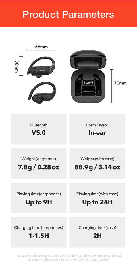 B1 Led Display Bluetooth Earphone