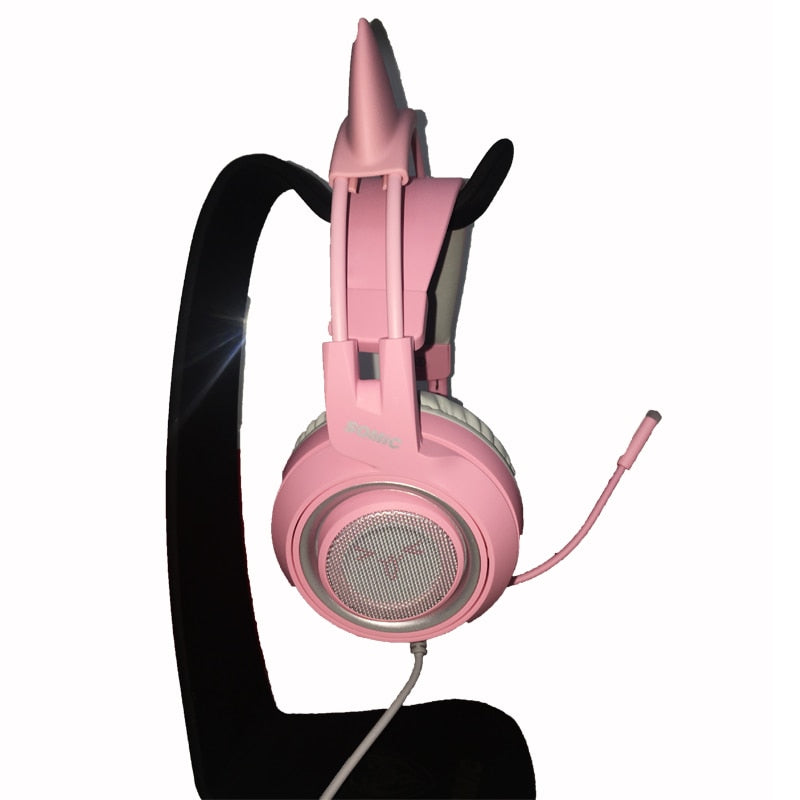 Pink Cat Ear Gaming Headset