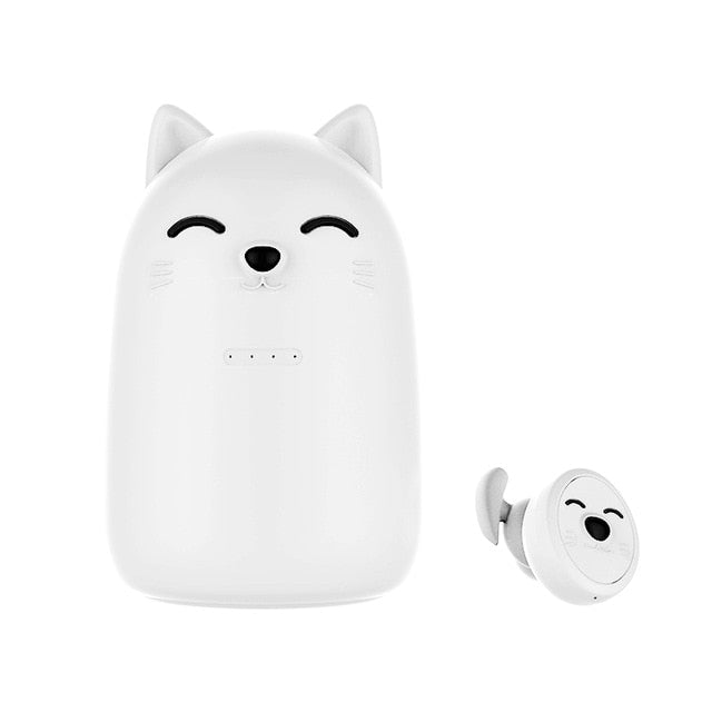 Cute Cat Bluetooth Wireless Earbuds