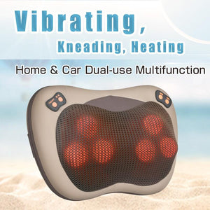 Infrared Heating Shiatsu Shoulder and Back Massager for Home and Car Use