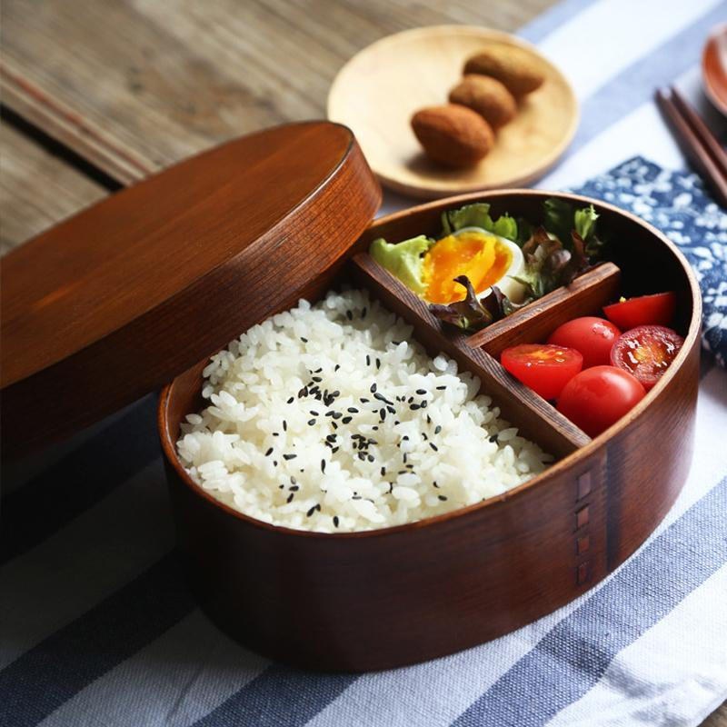 Wooden Lunch Box Japanese Bento Lunchbox