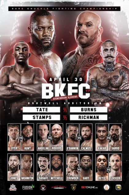 BKFC 17 Autographed Fight Poster - 24x36