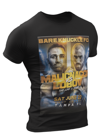 BKFC 6  Limited Edition T-Shirt Malignaggi vs Lobov