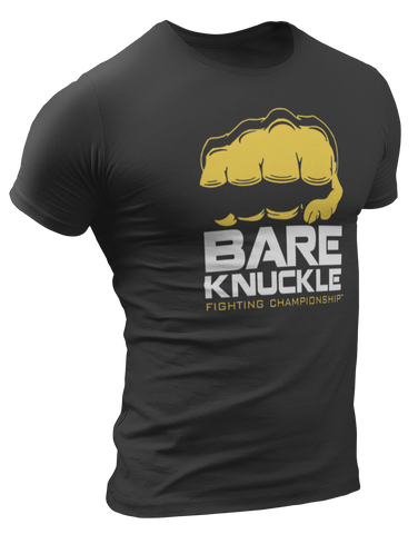 BKFC Logo T-Shirt - Black/Yellow/White