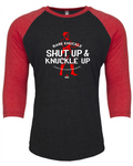 Limited Edition - Knuckle Up Logo 3/4 Sleeve Raglan - Black/Red/White