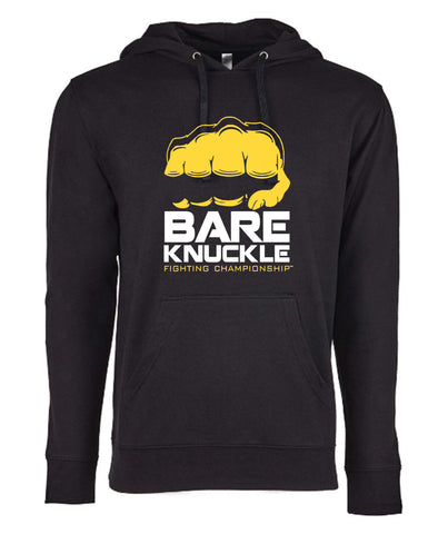 BKFC Logo French Terry Hoodie Black/Yellow